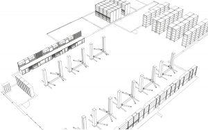 LISTA Werkstatteinrichtung Planungszeichnung